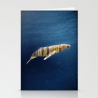 A Whale Dreams Of The Fo… Stationery Cards