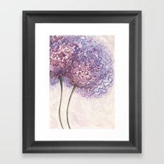 Purple Flower Watercolor Framed Art Print