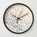 GOLD LEO Wall Clock