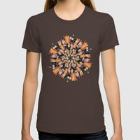 Flemish Floral Mandala 2 Womens Fitted Tee Brown SMALL