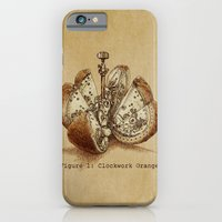 orange iPhone & iPod Cases featuring Clockwork Orange  by Eric Fan