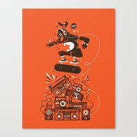 Skate and music Canvas Print
