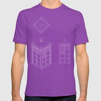 Tardis -Dark Mens Fitted Tee Ultraviolet SMALL
