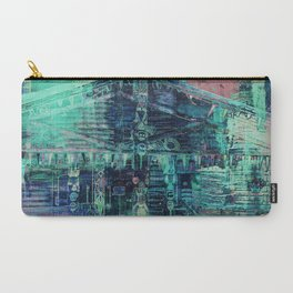 Carry-All Pouch - Totem Cabin Abstract - Teal - Alaskan Momma Bear