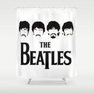 The Beatle-s Art Black A… Shower Curtain