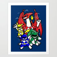 Might Morphing Poke'Rangers Art Print