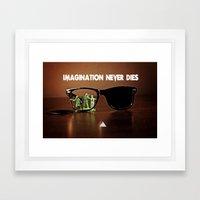 Imagination Never Dies Framed Art Print