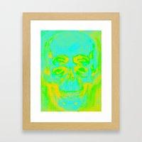 POP Skull Framed Art Print