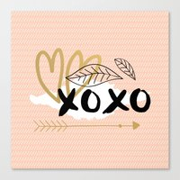 xoxo pink Canvas Print
