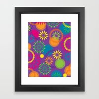 Spikeyflower Purple Framed Art Print