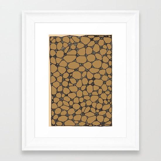 Yzor pattern 006-2 kitai beige Framed Art Print