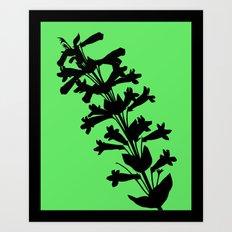 Penstemon in Plum Purple - Original Floral Botanical Papercut Design Art Print