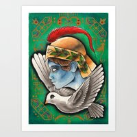 Alighted From The Past Art Print