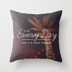 Taco Tuesday Throw Pillow