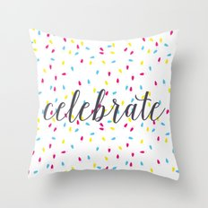 Celebration Lights Throw Pillow