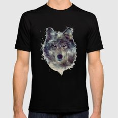 Wolf // Persevere  MEDIUM Mens Fitted Tee Black