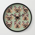 No Evil  Frenchie Wall Clock