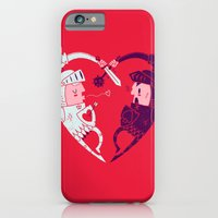 iPhone Cases featuring All Is Fair In Love And War by Morkki