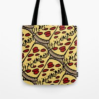 pattern pizza Tote Bag