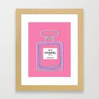 no5 pink Framed Art Print