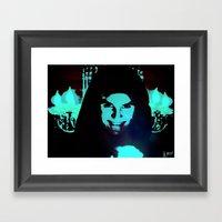 Scary Man Framed Art Print