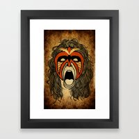 The Ultimate Warrior Framed Art Print