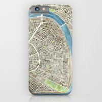 New Orleans City Map iPhone 6 Slim Case
