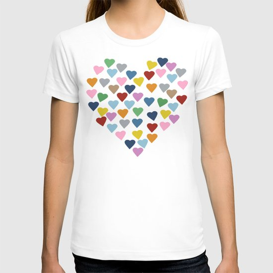 Hearts #3 Black T-shirt