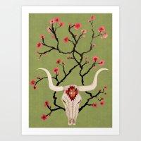 texan matcha Art Print