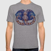 Elephant Mens Fitted Tee Athletic Grey SMALL
