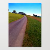 Country Road, Take Me Up… Canvas Print
