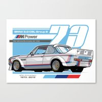 BMW - 3.0 CSL GROUP 2  Canvas Print