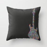 Guitar / Guitarra Throw Pillow