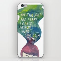Thoughts Are Constellations iPhone & iPod Skin