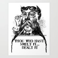 Vintage Thou who hast smelt it, dealt it  Art Print