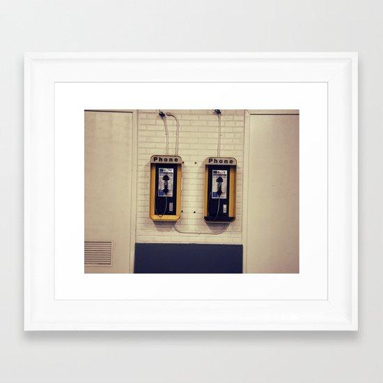 Pay Phone V Framed Art Print