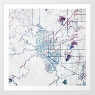 Boulder Map Colorado Art Print