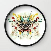 Chinese Opera Mask Wall Clock