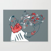 The Telling Sailor Canvas Print