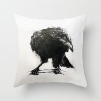Presager Of Death Throw Pillow