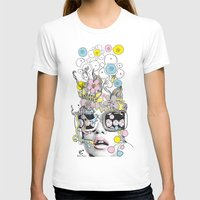 psykéwoman Womens Fitted Tee White SMALL