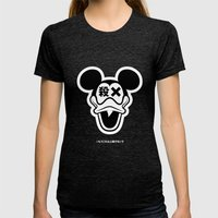 Mickey Duck Womens Fitted Tee Tri-Black SMALL