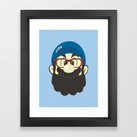 Framed Art Print featuring Mario Bro by Beardy Graphics