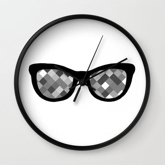 Diamond Eyes Black and White Wall Clock