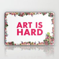 Art Is Hard - Flower Gir… Laptop & iPad Skin