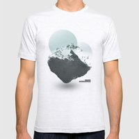 Mt. Everest - The Surreal North Face Mens Fitted Tee Ash Grey SMALL