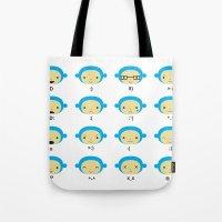 Emoticonal Monkey Tote Bag