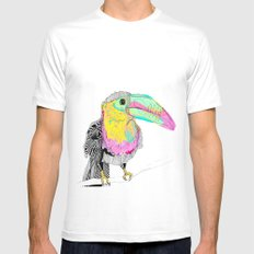 Toucan SMALL White Mens Fitted Tee