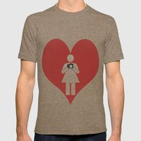 T-Shirt I Love Photograp… Mens Fitted Tee Tri-Coffee SMALL