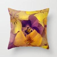 Viola bed. Throw Pillow